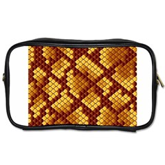 Snake Skin Pattern Vector Toiletries Bags by BangZart