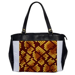 Snake Skin Pattern Vector Office Handbags