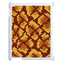Snake Skin Pattern Vector Apple Ipad 2 Case (white) by BangZart