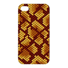 Snake Skin Pattern Vector Apple Iphone 4/4s Hardshell Case by BangZart