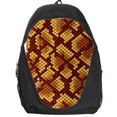 Snake Skin Pattern Vector Backpack Bag