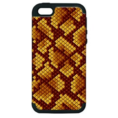 Snake Skin Pattern Vector Apple Iphone 5 Hardshell Case (pc+silicone) by BangZart