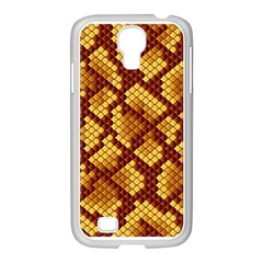 Snake Skin Pattern Vector Samsung Galaxy S4 I9500/ I9505 Case (white) by BangZart