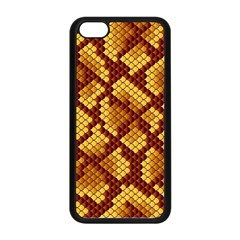 Snake Skin Pattern Vector Apple Iphone 5c Seamless Case (black) by BangZart