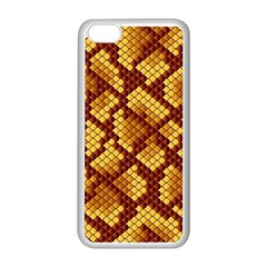 Snake Skin Pattern Vector Apple Iphone 5c Seamless Case (white) by BangZart