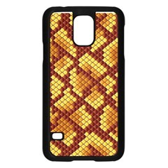 Snake Skin Pattern Vector Samsung Galaxy S5 Case (black)