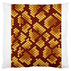 Snake Skin Pattern Vector Large Flano Cushion Case (one Side) by BangZart