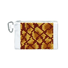 Snake Skin Pattern Vector Canvas Cosmetic Bag (s) by BangZart