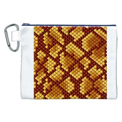 Snake Skin Pattern Vector Canvas Cosmetic Bag (xxl) by BangZart