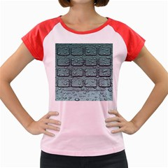 Water Drop Women s Cap Sleeve T Shirt