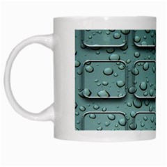 Water Drop White Mugs by BangZart