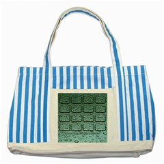 Water Drop Striped Blue Tote Bag