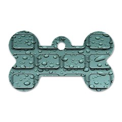 Water Drop Dog Tag Bone (two Sides)