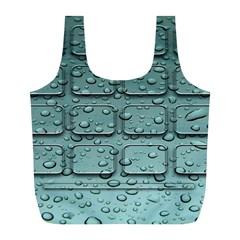 Water Drop Full Print Recycle Bags (l)