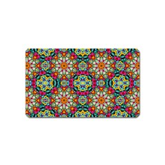 Jewel Tiles Kaleidoscope Magnet (name Card) by WolfepawFractals