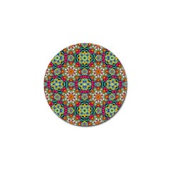 Jewel Tiles Kaleidoscope Golf Ball Marker by WolfepawFractals