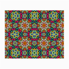 Jewel Tiles Kaleidoscope Small Glasses Cloth by WolfepawFractals