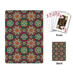 Jewel Tiles Kaleidoscope Playing Card by WolfepawFractals