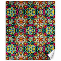 Jewel Tiles Kaleidoscope Canvas 8  X 10  by WolfepawFractals