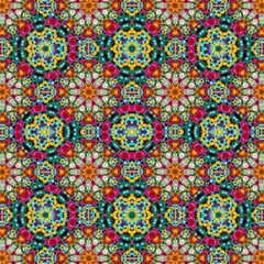 Jewel Tiles Kaleidoscope Canvas 12  X 12   by WolfepawFractals