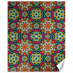 Jewel Tiles Kaleidoscope Canvas 16  X 20   by WolfepawFractals