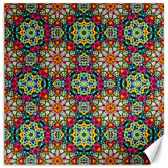 Jewel Tiles Kaleidoscope Canvas 20  X 20   by WolfepawFractals