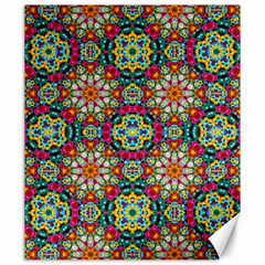 Jewel Tiles Kaleidoscope Canvas 20  X 24   by WolfepawFractals