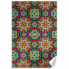 Jewel Tiles Kaleidoscope Canvas 20  X 30   by WolfepawFractals