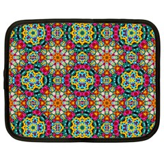 Jewel Tiles Kaleidoscope Netbook Case (large) by WolfepawFractals