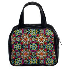 Jewel Tiles Kaleidoscope Classic Handbags (2 Sides) by WolfepawFractals