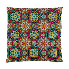 Jewel Tiles Kaleidoscope Standard Cushion Case (one Side) by WolfepawFractals