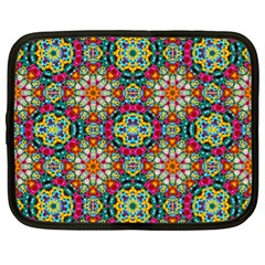 Jewel Tiles Kaleidoscope Netbook Case (xl)  by WolfepawFractals