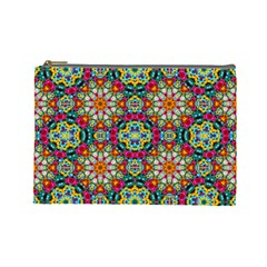 Jewel Tiles Kaleidoscope Cosmetic Bag (large)  by WolfepawFractals