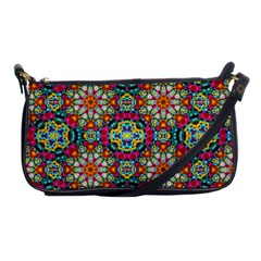Jewel Tiles Kaleidoscope Shoulder Clutch Bags by WolfepawFractals