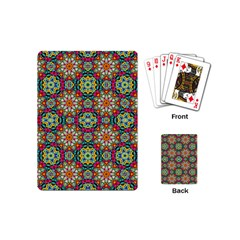 Jewel Tiles Kaleidoscope Playing Cards (mini)  by WolfepawFractals