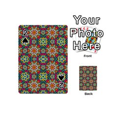 Jewel Tiles Kaleidoscope Playing Cards 54 (mini)  by WolfepawFractals