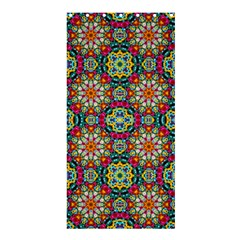 Jewel Tiles Kaleidoscope Shower Curtain 36  X 72  (stall)  by WolfepawFractals