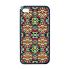 Jewel Tiles Kaleidoscope Apple Iphone 4 Case (black) by WolfepawFractals