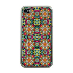 Jewel Tiles Kaleidoscope Apple Iphone 4 Case (clear) by WolfepawFractals