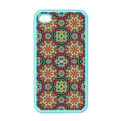 Jewel Tiles Kaleidoscope Apple Iphone 4 Case (color) by WolfepawFractals