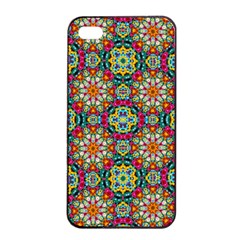 Jewel Tiles Kaleidoscope Apple Iphone 4/4s Seamless Case (black) by WolfepawFractals