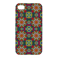 Jewel Tiles Kaleidoscope Apple Iphone 4/4s Premium Hardshell Case by WolfepawFractals