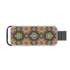 Jewel Tiles Kaleidoscope Portable Usb Flash (one Side) by WolfepawFractals