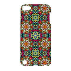 Jewel Tiles Kaleidoscope Apple Ipod Touch 5 Hardshell Case by WolfepawFractals