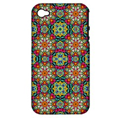 Jewel Tiles Kaleidoscope Apple Iphone 4/4s Hardshell Case (pc+silicone) by WolfepawFractals
