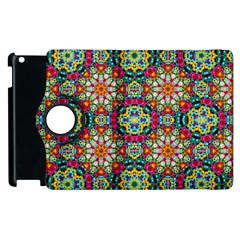 Jewel Tiles Kaleidoscope Apple Ipad 3/4 Flip 360 Case by WolfepawFractals