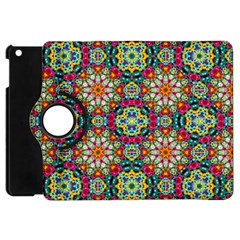 Jewel Tiles Kaleidoscope Apple Ipad Mini Flip 360 Case by WolfepawFractals
