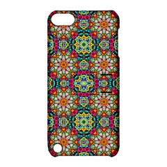 Jewel Tiles Kaleidoscope Apple Ipod Touch 5 Hardshell Case With Stand by WolfepawFractals