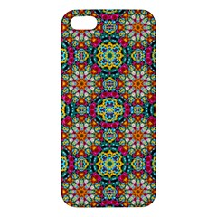 Jewel Tiles Kaleidoscope Apple Iphone 5 Premium Hardshell Case by WolfepawFractals