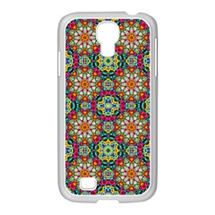 Jewel Tiles Kaleidoscope Samsung Galaxy S4 I9500/ I9505 Case (white) by WolfepawFractals